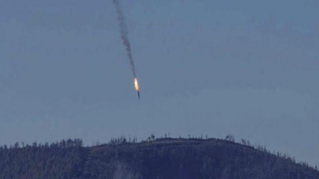 トルコ軍の戦闘機に撃墜されたロシア軍機(今月24日)