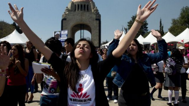 manifestante en Ciudad de México.