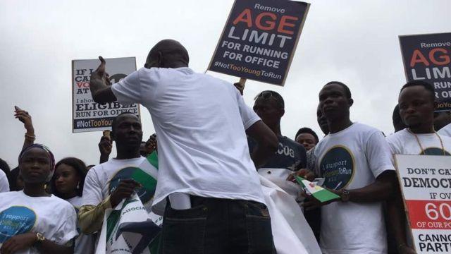Masu zanga-zanga a Nigeria
