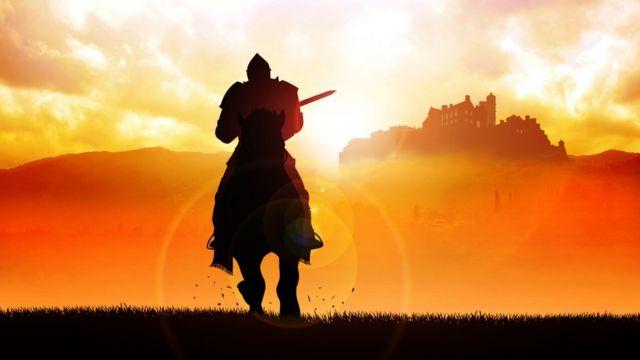 Рыцарь на коне.