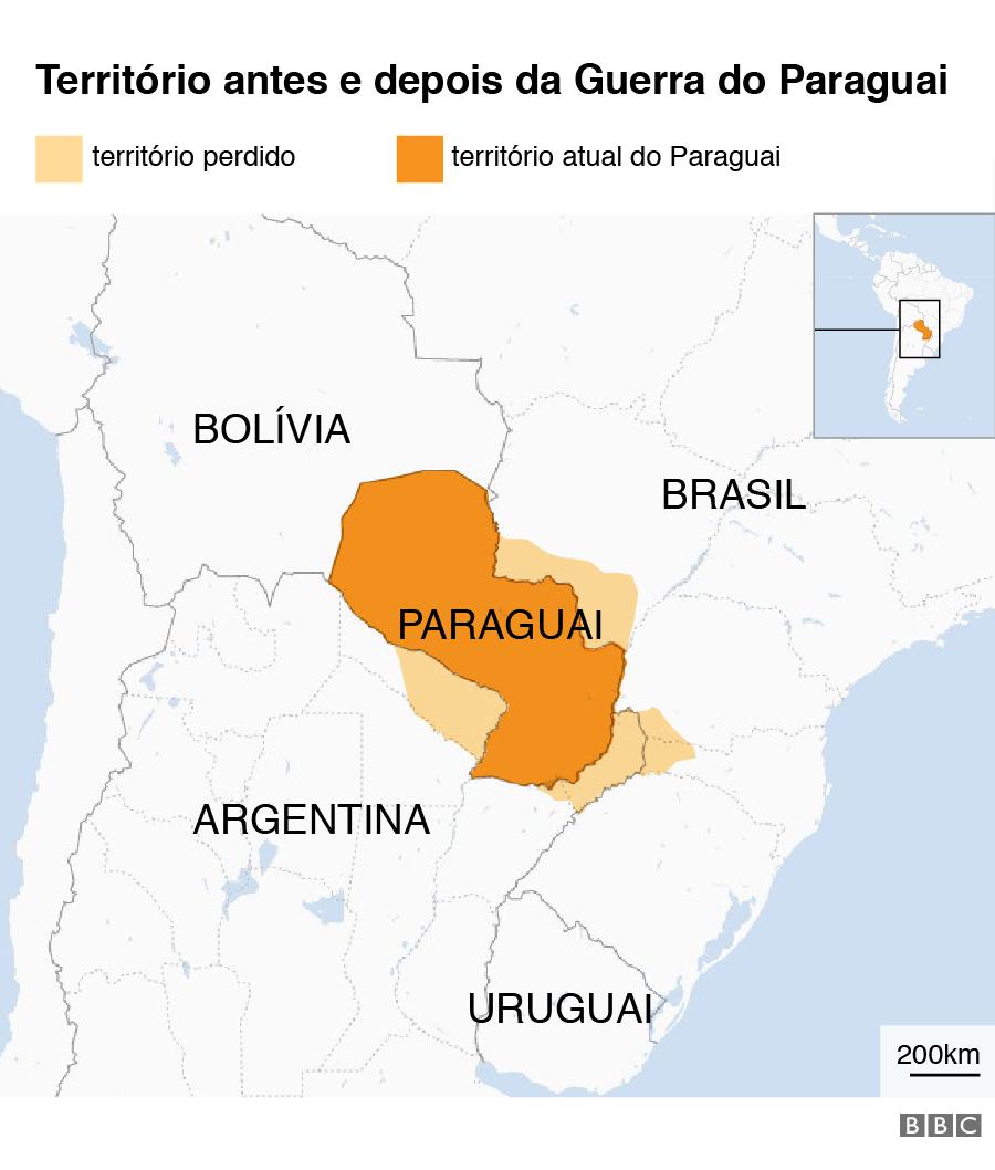 Território do Paraguai antes e depois da guerra
