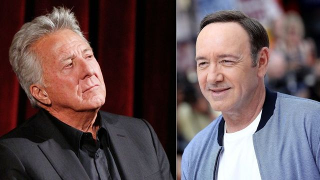 Actors Kevin Spacey and Dustin Hoffman