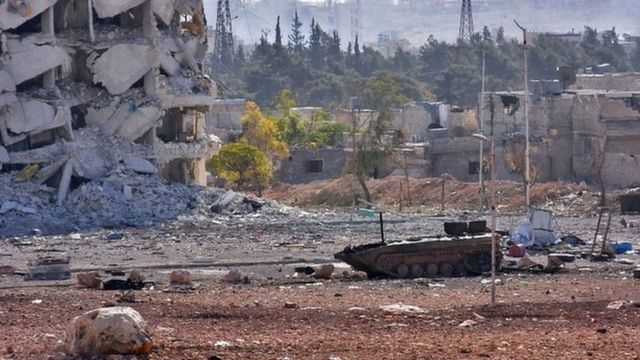 آثار الدمار شملت البنية التحتية في حلب