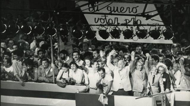 Comício por diretas em São Paulo em 1984