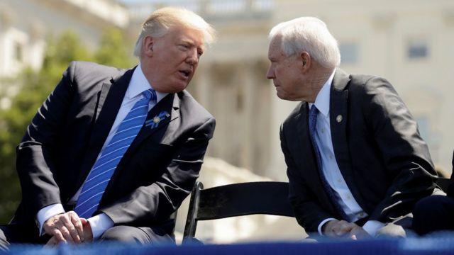 ترامب وسيشنز يتحدثان في مقر الكونغرس