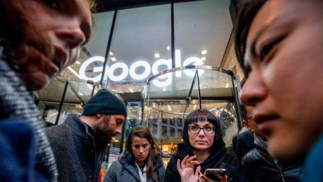 谷歌員工抗議示威