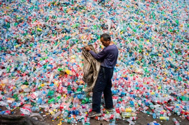 중국의 재활용 쓰레기 처리장