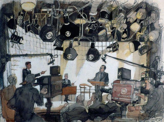 Ніксон Кеннеді малюнок
