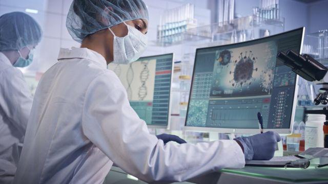 Coronavirus researchers in the laboratory