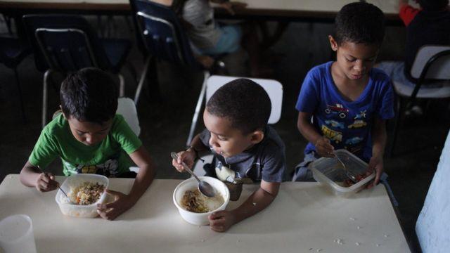 سوء التغذية واحدة من المشاكل التي يواجهها الأطفال في كاراكاس