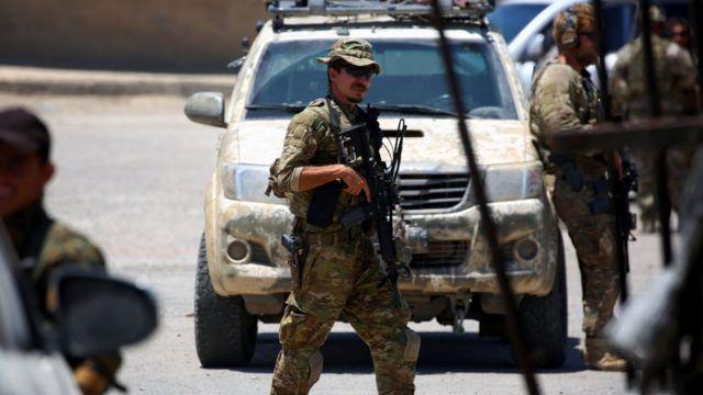 Um soldado americano na Síria