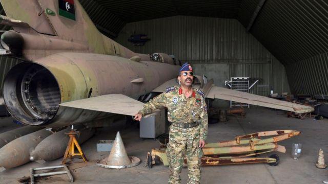 قاعدة الوطية الجوية بعد استيلاء قوات حكومة الوفاق عليها من قوات حفتر