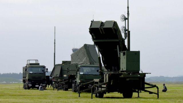 Sistema de defensa antimisiles Patriot.