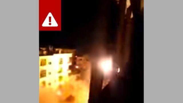 Esta gravação é na verdade um vídeo de combates na Síria