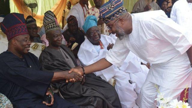 Aworan Gomina Ibikunle Amosun ati Adekunle Akinlade