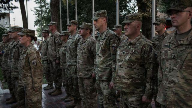 US troops in Kabul, Afghanistan, on 4 September 2017
