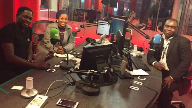 Ahmed Abba Abdullahi tare da bakin BBC Hausa, Ali Nuhu da Hadiza Gabon