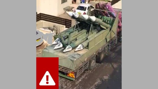 """Estes são quase certamente mísseis """"falsos"""" para fins de exercício, não mísseis reais"""