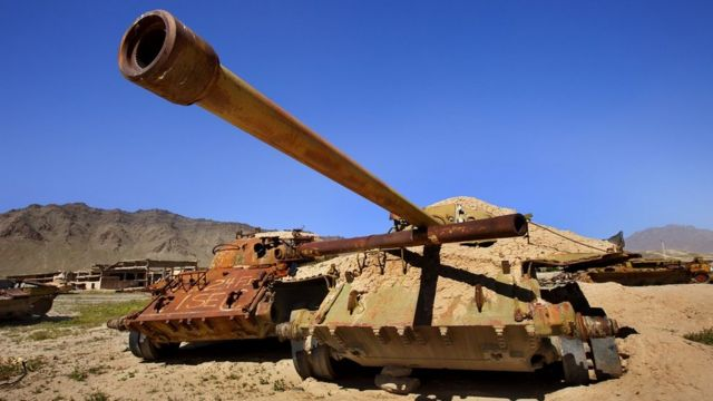 Российские танки, использовавшиеся для учений, в 2009 году