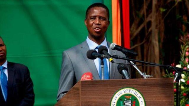 President Edgar Lungu dey seek re-election