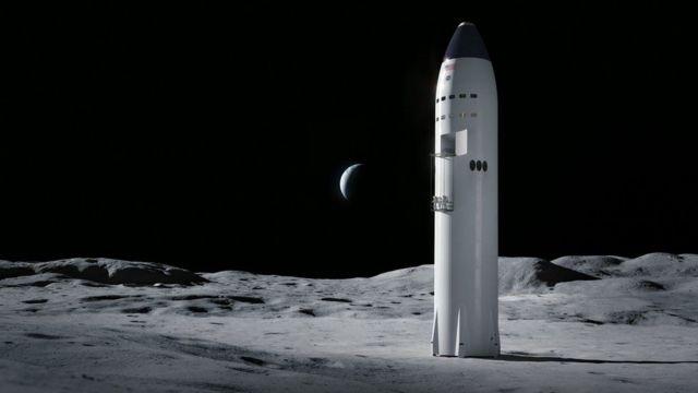 နာဆာရဲ့ လပေါ် လူတွေ ရေရှည် နေနိုင်ဖို့ ရည်ရွယ်တဲ့ Artemis စီမံကိန်းမှာ သုံးနိုင်တဲ့ Starship အမျိုးအစား နမူနာ