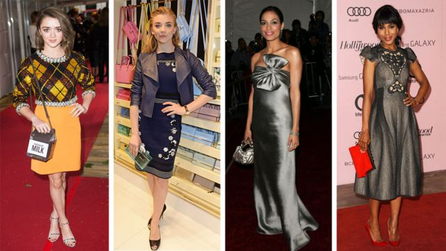 From left: Actresses Maisie Williams, Natalie Dormer, Rosario Dawson, and Kerry Washington