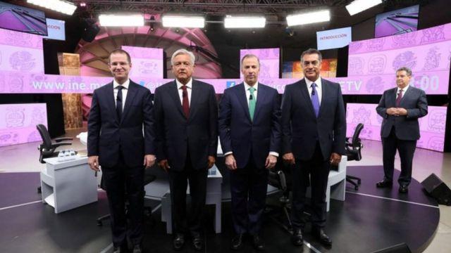 Los 4 candidatos a la presidencia de México.