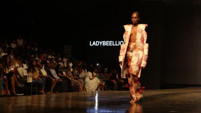 Model Aduke Shitta-Bey be one of di fast rising models for Naija fashion industry
