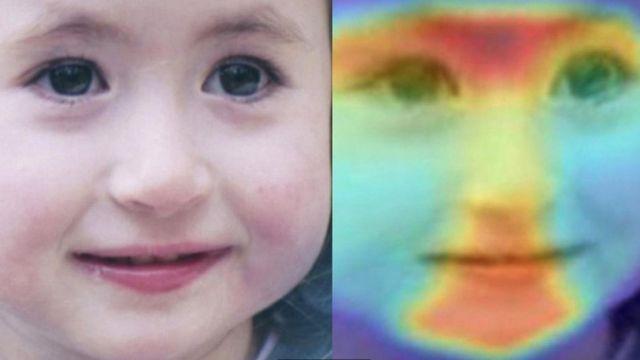 Escaner facial de una niña
