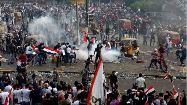 Irak'ta protestolar