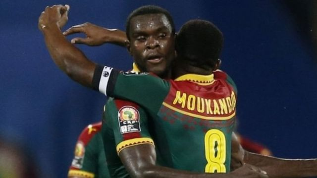 Abakinyi ba Cameroun mu munezero inyuma y'urukino