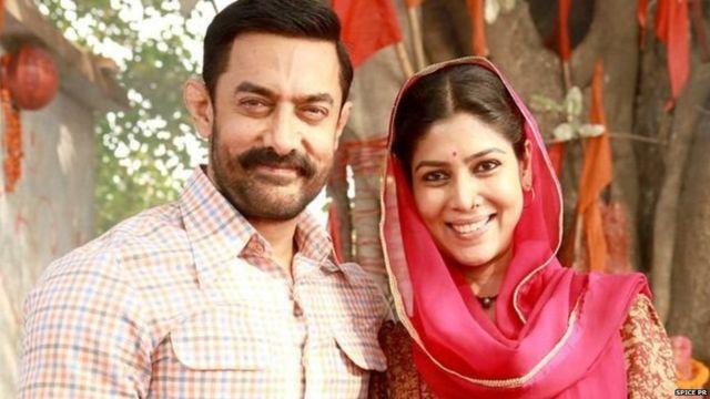 दंगल में आमिर खान और साक्षी