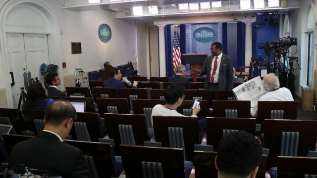 Press briefing room at the White House
