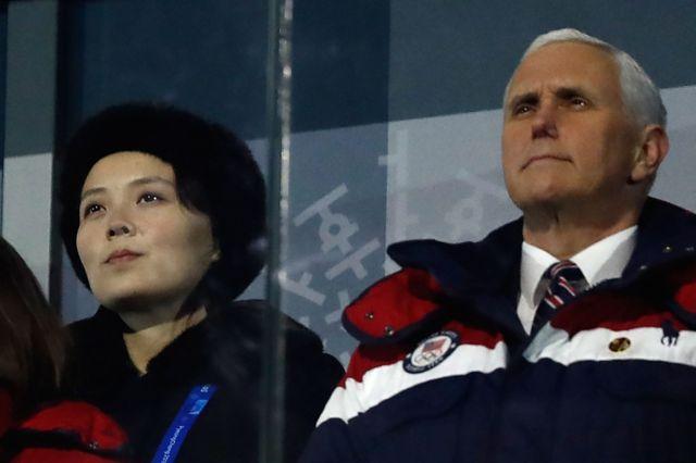 Kim Yo-jong y Pence