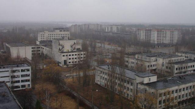 Чернобыльский пейзаж 10 апреля 2010 года