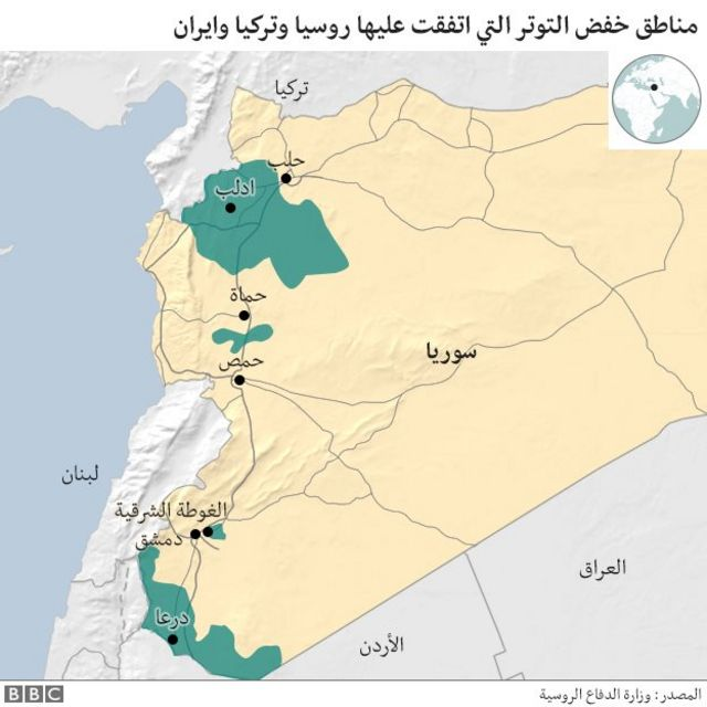 موقع إدلب في الحرب السورية