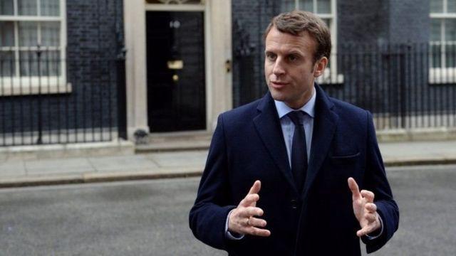 مرشح الرئاسة الفرنسية ايمانويل ماكرون يدعو البنوك البريطانية للقدوم إلى بلده بعد خروج بريطانيا من الاتحاد الأوروبي