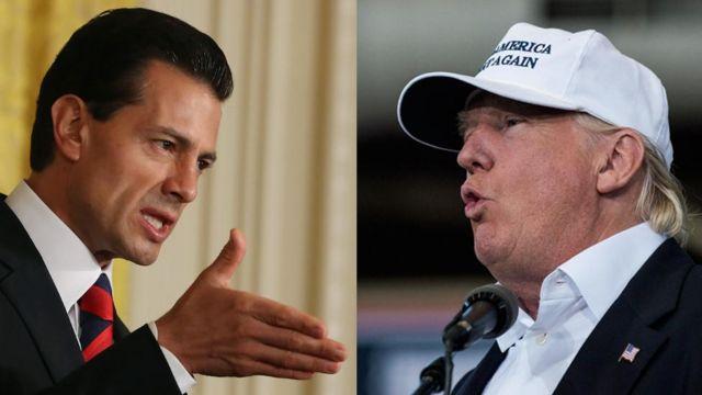 Peña Nieto (izquierda) y Trump (derecha).