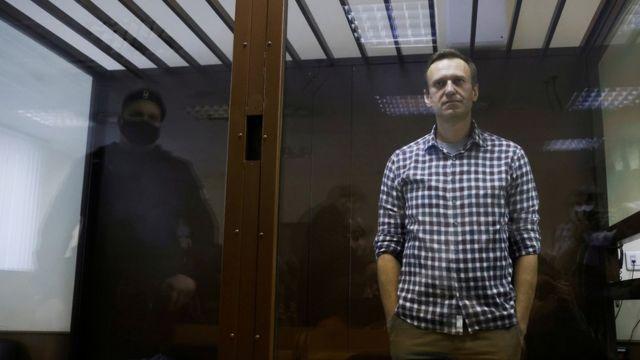 Алексей Навальный во время заседания суда (архивное фото)