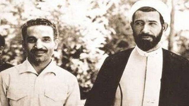 محمدعلی رجایی (چپ) به همراه نخست وزیرش باهنر