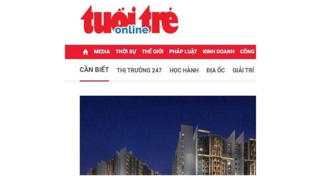 Tuổi Trẻ Online (tuoitre.vn) là bản điện tử của báo Tuổi Trẻ ở TPHCM