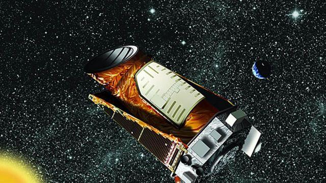 صورة تخيلية لكبلر في الفضاء