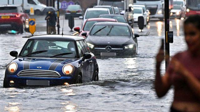 Inundaciones en Londres en 2021.