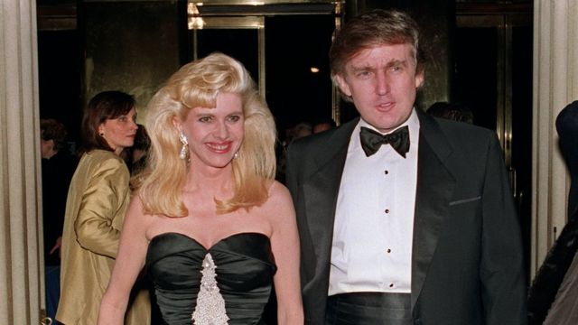 Ivana and Donald Trump in 1989
