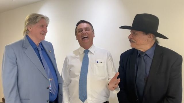 Sérgio Reis, Jair Bolsonaro e Eduardo Araújo