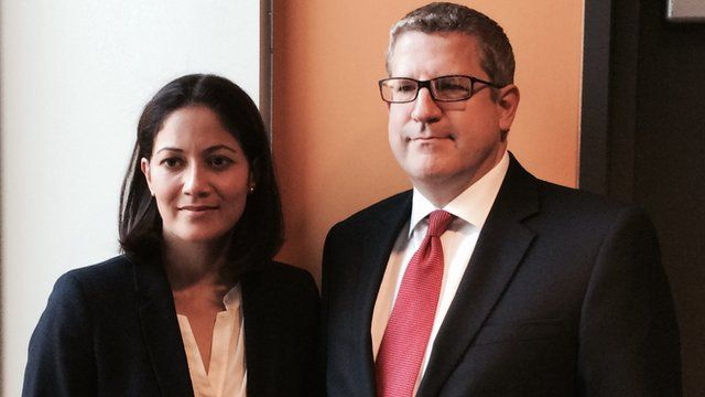 Andrew Parker with Mishal Hussein
