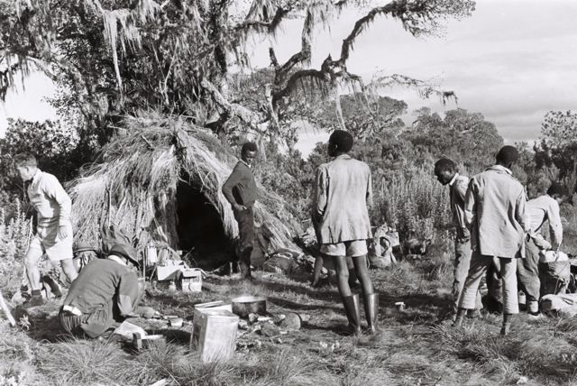 Trek participants practice camping during a two week training course