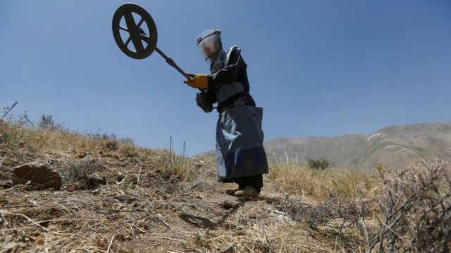 File photo of a deminer in Afghanistan