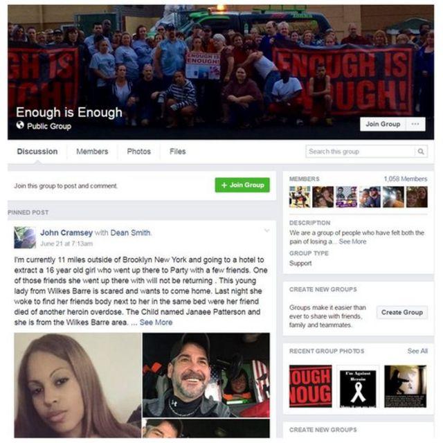 El grupo en Facebook