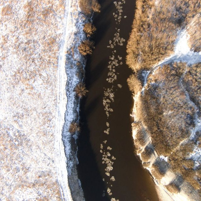 Drone photographer captures winter in Lithuania